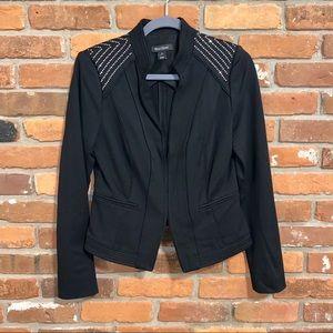 White House Black Market Black Studded Blazer 8